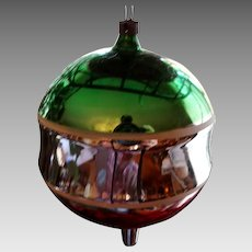 Victorian German Hand Blown Art Glass Christmas Ornament