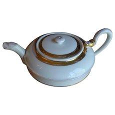 Circa 1800 Elegant White & Gold Vienna Teapot