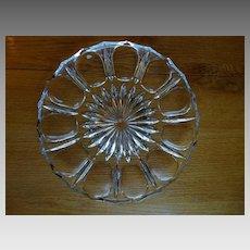 Cut Crystal Vintage Oyster Plate Deviled Egg Plate