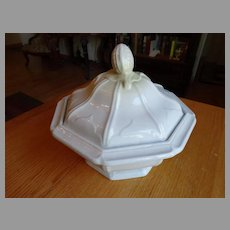 White Ironstone 1855 Covered  Covered Casserole Dish
