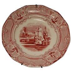 A Shaw Mulberry Transferware Plate Pomona Pattern 1850s
