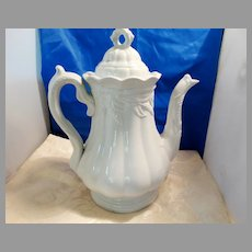 Ceres Wheat Staffordshire Ironstone Coffee Pot 1850-60s