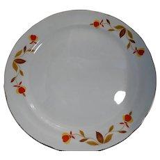 Hall's Pottery Jewel Tea Autumn Leaf 4 Dinner Plates