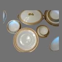 Theodore Haviland Limoges Antique Dinnerware Set 5Pc Place for 8 + Serving Dishes