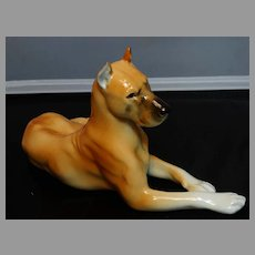 Lomonosov Russia Porcelain Great Dane Dog Figurine