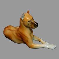 Lomonosov Russia Porcelain Great Dane Dog Figurine