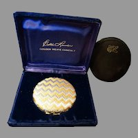Estee Lauder Compact 1960 Golden Weave Unused