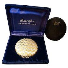 Estee Lauder Compact 1960 Golden Weave Unused