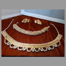 Costume Jewelry Designer Hobe Parure Set Necklace Bracelet Earrings