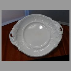 Antique White Ironstone Rococo Serving Dish