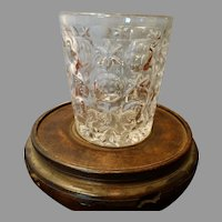 Circa 1815-1825 Triple Mold Blown Molded Sandwich Glass Tumbler Thumbprint Star & Bullseye