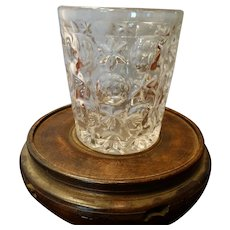 Circa 1815-1825 Triple Mold Blown Molded Sandwich Glass Tumbler Thumbprint Star & Bullseye