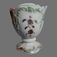 Antique EAPG Northwood Custard Glass Vase Spooner