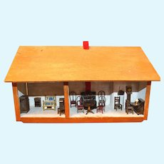 Doll House Furnished Accessories Wall Mount Vintage