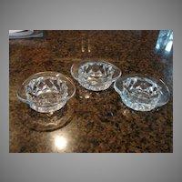 Fostoria Glass American Top Hat Set of 3