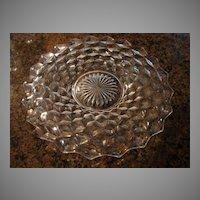 "Fostoria Glass American 12"" Cracker Cake Snack Plate Serving Plate"