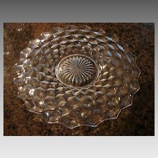 "Fostoria Glass American 12"" Cracker Cake Snack Plate Serving Plate"