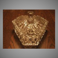 "Fostoria Glass American Scarce 6"" Tri Corn Candy Dish"