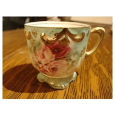 RS Prussia Porcelain China Demitasse Cup Footed Exquisite