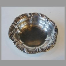 Sterling Silver Serving Bowl Cabinet Miniature Large Doll House Salt Dish Size Heirloom