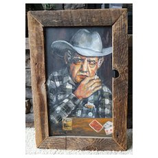 """The Gambler"" Original Oil NW Artist Barbara Gardner Western Art"