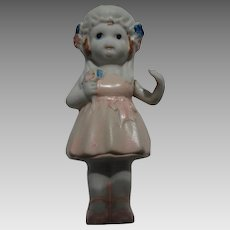 Vintage Cake Bisque Bride Doll Japan
