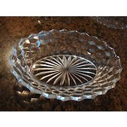 "Fostoria Glass American Pattern 9 ¼"" Oval Vegetable Bowl"