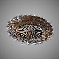 "Fostoria Glass American 9 ¼"" Oval Vegetable Bowl"