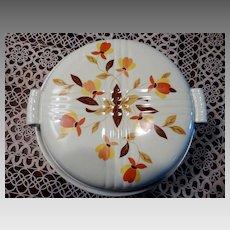 Hall's China Jewel Tea Autumn Leaf  Covered Casserole 2 Quart M/NM