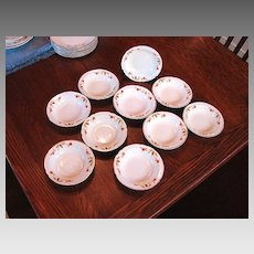 Hall's China Jewel Tea Autumn Leaf 10 Dessert Dishes Fruit Bowls NM
