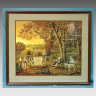 Charles Wysocki Limited Edition Print 1989 The Memory Maker Custom Framed 420/2500  19th Century Photography Wagon Photographer