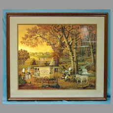 Charles Wysocki Limited Edition Print The Memory Maker Custom Framed