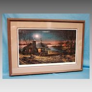 Terry Redlin Pure Contentment Artist Proof  1989  Limited Edition Print Custom Framed Hunting Scene