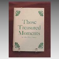 Poem1st Edition Book of Poems Southwest Those Treasured Moments  Author Alice Mann Roney Signed by Author