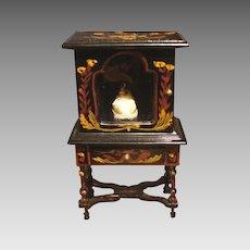 Cabinet Miniature Superb Japanned China Cabinet Vitrine  Miniature Dollhouse Furniture