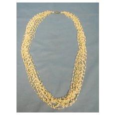 Flapper Beads Necklace 14 Strand ART DEco