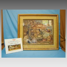 Charles Wysocki Remington The Horticulturist Limited Edition Print & Heartland Book Custom Frame & Glass