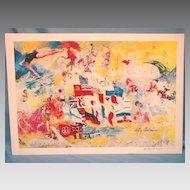 Leroy Neiman Art Hand Signed Print Montreal Olympics 1976
