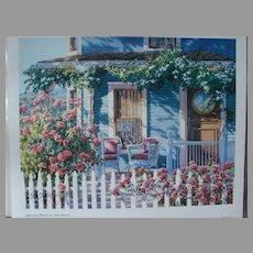 "Erin Dertner Limited Edition Print ""Afternoon Retreat"" Scarce! Artist Signed"