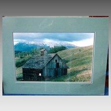 "Barn at ""Telluride"" San Juan Mountains Professional Photograph Signed Derick"