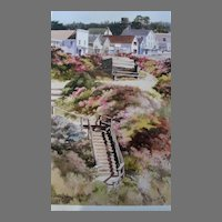 """Erin Dertner Limited Edition Print """"Our Town"""" Scarce!"""