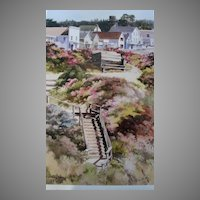 "Erin Dertner Limited Edition Print ""Our Town"" Scarce!"