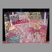 """Spring Porch"" Mary Mark Hand Pulled Linoleum Limited Edition Print Fine Art 61/64"