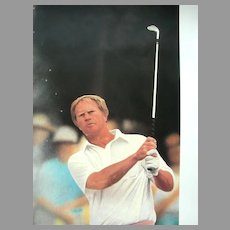 "Golf Sports Arts Limited Edition Print Jack Nicklaus, ""The Master's Touch"",  Daniel M. Smith Artist Vintage Serigraph"
