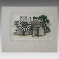 "Fine Art Limited Edition Vintage Print ""Old Windmill Calgary"" Andors Van Groot"