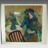 """Barbara Wood Artist Proof Rare Limited Edition Print """"Fall Bouquet"""""""