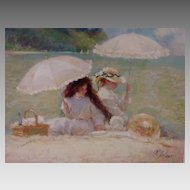 "Richard Zolan Limited Edition Fine Art Print ""Water's Edge"" Vintage"