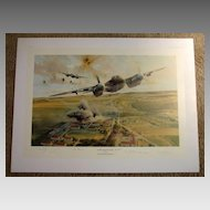 """""""Rangers On The Rampage"""" Robert Taylor Limited Edition Aviation Print WWII Pilots Signed"""