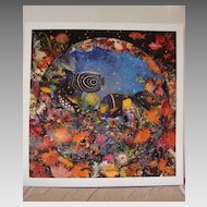 "Leonard Benchen Benken Seascape Limited Edition Art Print ""Aquatic Lights""  Ocean Fish Coral Vintage"