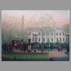 "G. Harvey Limited Edition Print  ""1600 Pennsylvania Avenue"" Historical Treasury Collection"